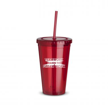 Teamwork Dream Work 16oz Straw Tumbler