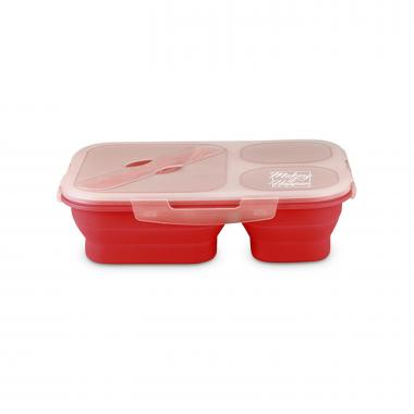 Making it Happen Square Collapsible Trio Food Container
