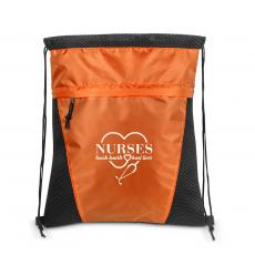 Nurses Gifts - Nurses Touch Hearts Value Cinch Backpack