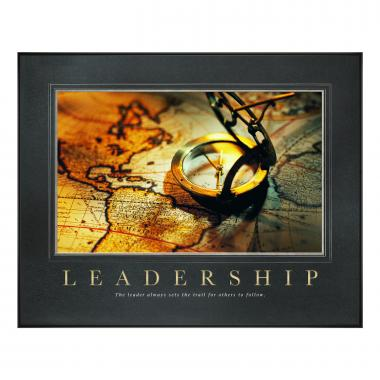Leadership Compass Motivational Poster