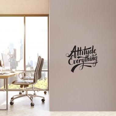 Attitude is Everything Script Vinyl Wall Decal