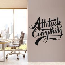Vinyl Wall Decals - Attitude is Everything Script Vinyl Wall Decal