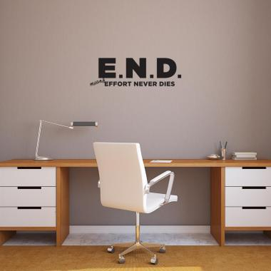 E.N.D. Vinyl Wall Decal