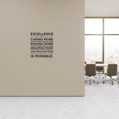 Excellence Block Vinyl Wall Decal