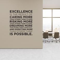 Vinyl Wall Decals - Excellence Block Vinyl Wall Decal