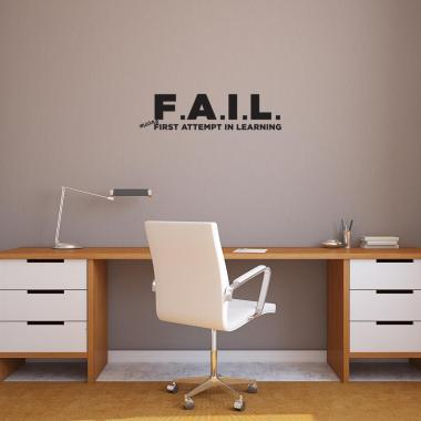 F.A.I.L. Vinyl Wall Decal