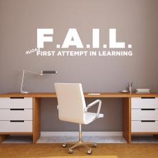 Vinyl Wall Decals - F.A.I.L. Vinyl Wall Decal