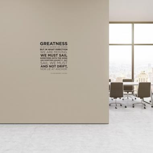 Greatness Block Vinyl Wall Decal