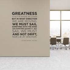 Vinyl Wall Decals - Greatness Block Vinyl Wall Decal