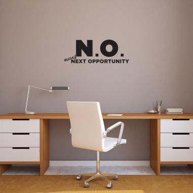 N.O. Vinyl Wall Decal