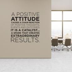 Positive Attitude Block Vinyl Wall Decal