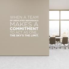 Vinyl Wall Decals - Sky's the Limit Block Vinyl Wall Decal