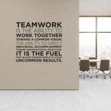 Vinyl Wall Decals - Teamwork Definition Block Vinyl Wall Decal