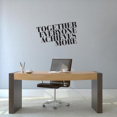 Together Everyone Achieves More Block Vinyl Wall Decal
