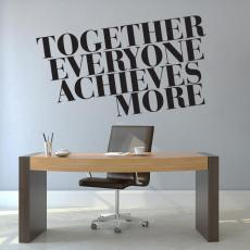 Vinyl Wall Decals - Together Everyone Achieves More Block Vinyl Wall Decal