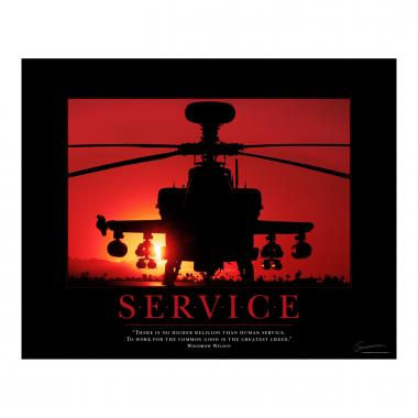 Service Helicopter Motivational Poster