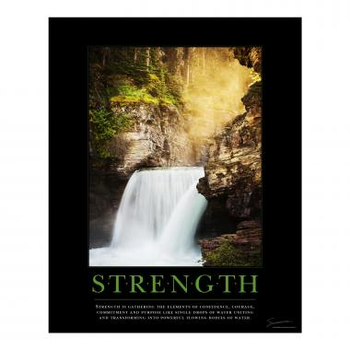 Strength Waterfall Motivational Poster