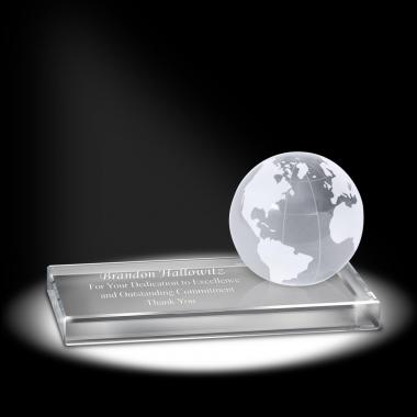 Sparkling Performance Globe Crystal Award