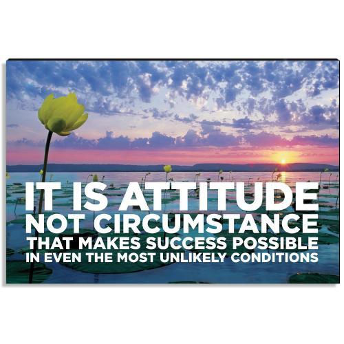Attitude vs Circumstance Inspirational Art