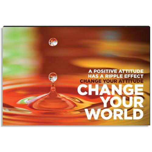 Change Your World Inspirational Art