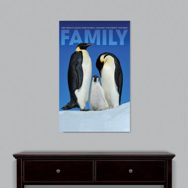 Family Penguins Motivational Art