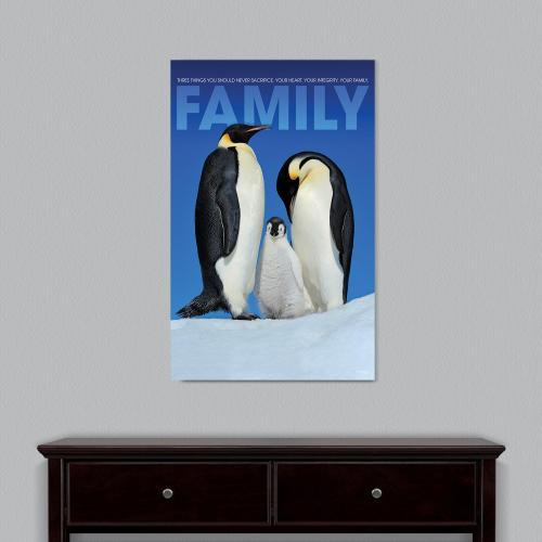Family Penguins Motivational Art