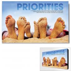 Modern Motivational Art - Priorities Beach Motivational Art
