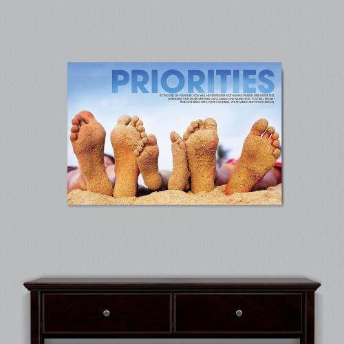 Priorities Beach Motivational Art