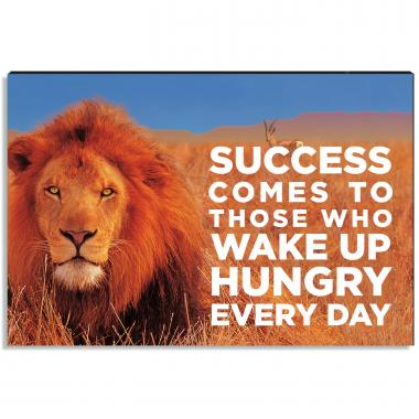 Hungry for Success Inspirational Art