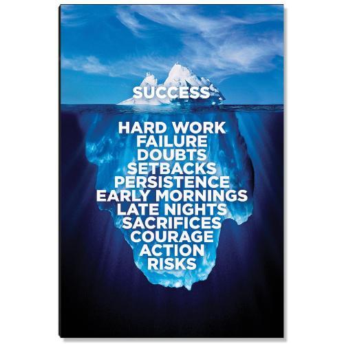 Success Iceberg Inspirational Art