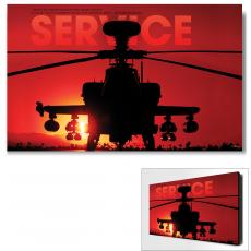 Modern Motivational Posters - Service Helicopter Infinity Edge Wall Decor