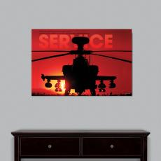 Service Helicopter Infinity Edge Wall Decor Modern Motivational Poster (703907), Modern Motivational Posters