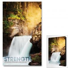 Modern Motivational Art - Strength Waterfall Motivational Art