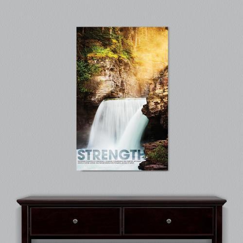 Strength Waterfall Motivational Art