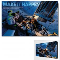 Modern Motivational Art - Make It Happen Sailboat Motivational Art