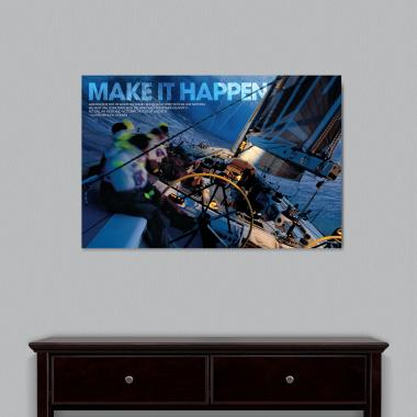 Make It Happen Sailboat Motivational Art