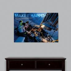Make It Happen Sailboat Infinity Edge Wall Decor Modern Motivational Poster (703812) - $139.99