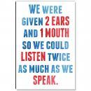 Listen Twice As Much Inspirational Art