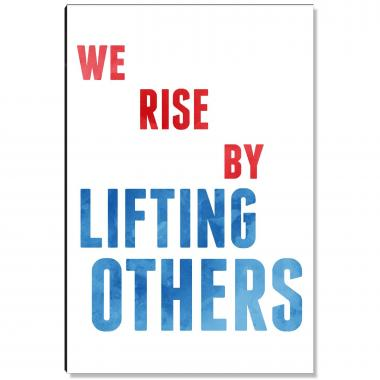 Lifting Others Inspirational Art