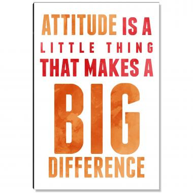 Attitude Makes a Difference Inspirational Art