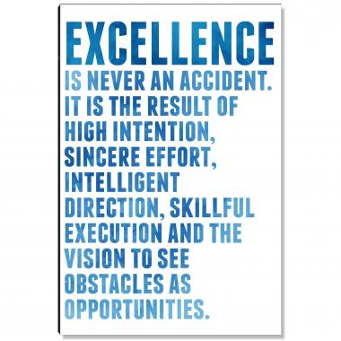 Excellence Is The Result Inspirational Art