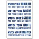 Watch Your Thoughts Inspirational Art