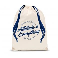 Gift Accessories - Attitude is Everything Circle Drawstring Gift Bag