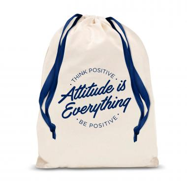 Attitude is Everything Circle Drawstring Gift Bag