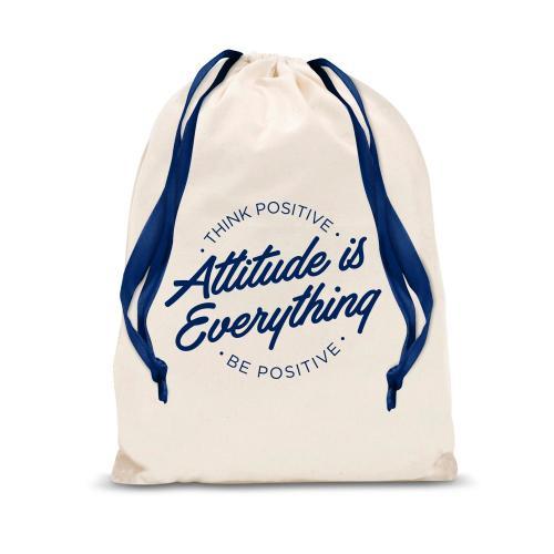 Attitude is Everything Circle Drawstring Gift Bag