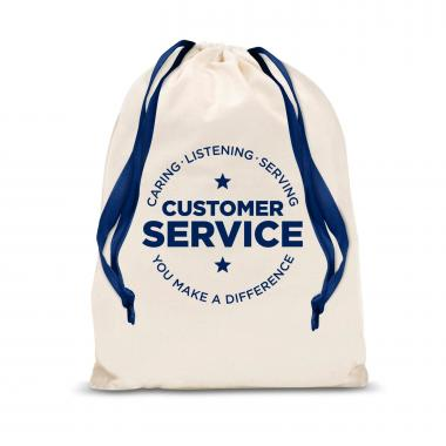 Customer Service Drawstring Gift Bag