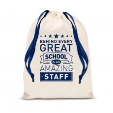 Gift Accessories - Behind Every Great School Drawstring Gift Bag