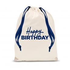 Gift Accessories - Happy Birthday Drawstring Gift Bag