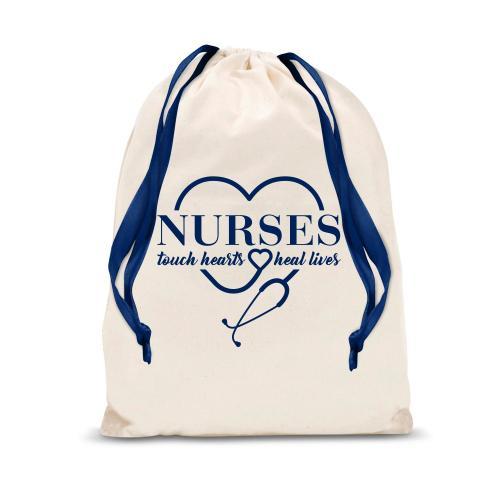 Nurses Touch Hearts Drawstring Gift Bag