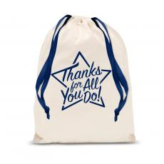 Gift Accessories - Thanks for All You Do Star Drawstring Gift Bag